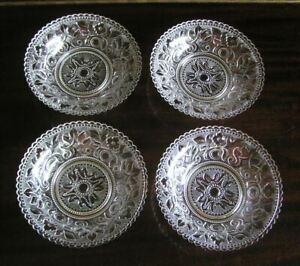 Set of 4 Lacy Glass Nappy Bowls MMA Metropolitan Museum of Art New York 1972 MIB