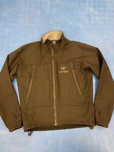 Mens Arc'Teryx  Full Zip Fleece Jacket Size M Medium Black Polartec