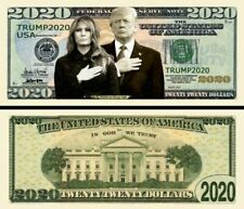 Pack of 25 - Trump Money Donald and Melania 2020 Collectible Novelty Dollar Bill