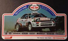 Aufkleber TTE TOYOTA CASTROL WRC Team 1993-1994 Celica Turbo 4WD Sticker