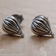 Hot Air Balloon Earrings - 925 Sterling Silver - Balloon Jewelry Girls Earrings