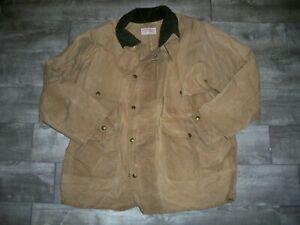 Filson 61NXL Tin Cloth Packer Workwear Field Hunting Coat Extra Long Men's Large