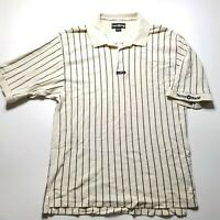Vintage Taylor Made Striped Golf Polo Rare  100% Cotton Short Sleeve Mens XL