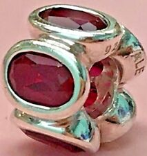 PANDORA | RUBY OVAL LIGHTS CHARM *NEW* 790311SRU RETIRED RARE RED 925 ALE SILVER
