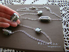 """Vision"" Long Necklace N2924 $179 Silpada Sterling Silver Cz Hematite"