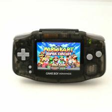 Nintendo Game Boy Advance GBA Clear Black System Backlight Backlit IPS LCD MOD