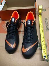Nike Mercurial Vapor 12 Club Fg Mg Men's Size 12 Black Orange Soccer Cleats $55