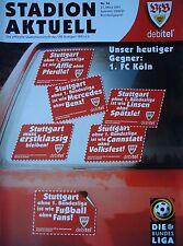 Programm 2000/01 VfB Stuttgart - FC Köln