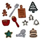 Jesse James Buttons ~ Dress It Up ~ Christmas Cookies 2473 ~ Baking Cookies