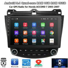 For Honda Accord 2003-2007 Quad-Core 10.1'' Android 9.1 Car Stereo Radio GPS Nav