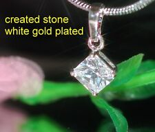 1ct 6x6mm princess DIAM0ND pendant