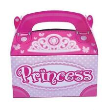 12 PRINCESS TREAT BOXES Birthday Party Loot Goody Bags Pink #ST37 FREE SHIPPING
