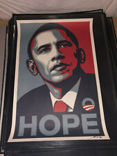 Signed Shepard Fairey Obey Giant Obama Hope Offset Lithograph Print Poster