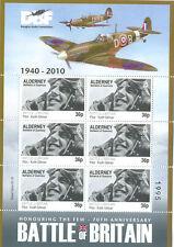 Battle of Britain-Spitfire-Aviation-World War II-Special sheet mnh