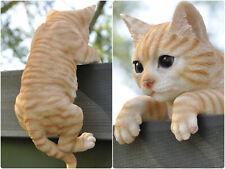 Deko Gartenfigur Zaunfigur Skulptur Dekofigur kletternde Katze 27 cm wetterfest