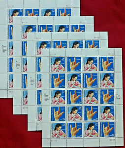 Four x 20 = 80 AMERICAN SIGN LANGUAGE 29¢ US PS Postage Stamps. Scott 2783-2784