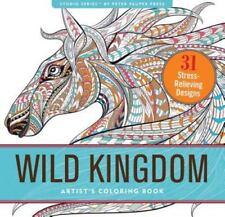 WILD KINGDOM - PETER PAUPER PRESS Coloring Book - NEW BOOK