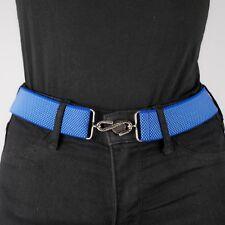Blue Elastic Belt Womens Micro Weave Light Blue Elasticated Snake Belt Unisex UK