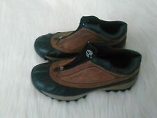 MENS TIMBERLAND LOW LEATHER DUCK BOOTS SHOES Zip Slip-On Waterproof - EUC -Sz 10