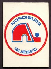 1972-73 OPC O Pee Chee WHA Team Logo Inserts SP QUEBEC NORDIQUES