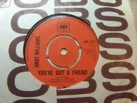 "Andy Williams – You've Got a Friend 1971 7"" CBS 7378"