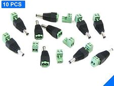10PCS 2.1 x 5.5mm Male Jack Plug Connector for 12V DC Power Adapter CCTV Camera