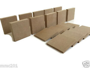 10 x MDF Wooden Square Shapes
