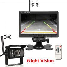 "Wireless Auto Car Rear View Backup Camera System Night Vision+ 7""TFT LCD Monitor"