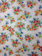 Vintage Floral Apparel Fabric Flower Material Poly Blend 1yd 35' x 60w Retro