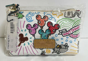 NWT Disney Dooney & Bourke Sketch Coin Purse Cosmetic Case Bag Dumbo Chip & Dale