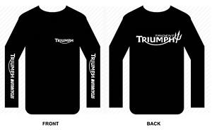 Triumph T shirt Long sleeve motorbike motorcycle biker vintage Trident