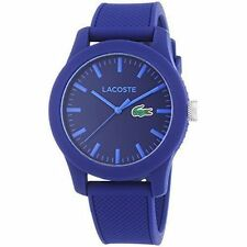 Lacoste 2010765 Unisex Blue Silicone 43mm Plastic Case Quartz Watch