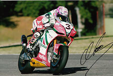 Max Biaggi Hand Signed Aprilia Alitalia Racing 12x8 Photo.