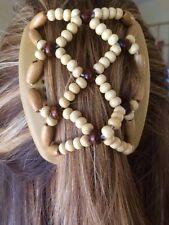 Original African Butterfly Haarkamm Haarspange Haarschmuck beige Frisur Kamm