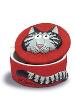 Kliban Red Big Cat Keepsake Box - NIB