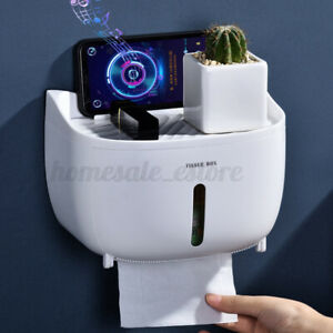 Waterproof Wall Mounted Toilet Roll Holder Drawer Bathroom Tissue Pape