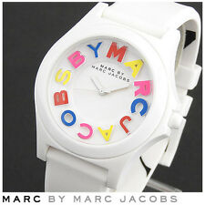 Marc By Marc Jacobs Women's Sloane Multicolor Dial White Silicone Watch MBM8660