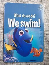 """Finding Dory Nemo Two-Sided Sign - """"What Do We Do? We Swim!"""""""