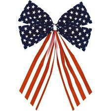 Patriotic Stars & Stripes Bow Set of 2 4th of July