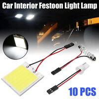 10x Car Vehicle T10 48 SMD LED COB Dome Map Light Bulb Interior Panel Lamp