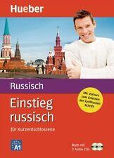 Russisch Einstieg Sprachkurs Buch + 2 Audio CD