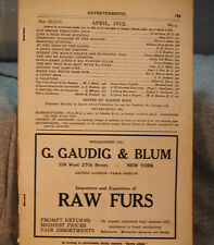 Sports Afield Rare Vintage Ancien Chasse Pêche Nature Magazine Avril 1912