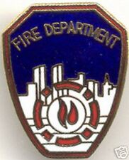 Fire Department Shield Hat / Lapel Pin NEW