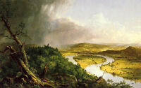 Art oil painting Thomas cole - The Oxbow The Connecticut River near Northampton