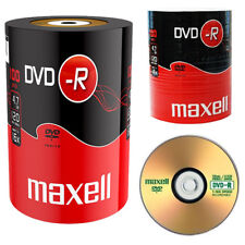 GENUINE MAXELL DVD-R 100 PACK BLANK DISCS RECORDABLE DVD 16x 4.7GB 120 MINS PC