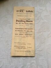 Sale Particulars Dwelling House, The Street, Eyke, Suffolk