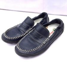 Naturino leather size 32 navy penny loafer shoes