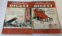 lot of two AUTOMOTIVE DIGEST magazines ~ October 1949, April 1950