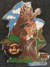 "Hard Rock Cafe ANCHORAGE 2017 3rd Anniversary PIN Bear Holding ""3"" Guitar LE 300"