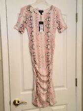 ISABELLA OLIVER Blush Snake Print Dress. Size 1. NEW.